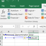 Error Messages in excel and what do they mean?